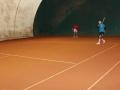 Tennis doppio giallo scambi gioco