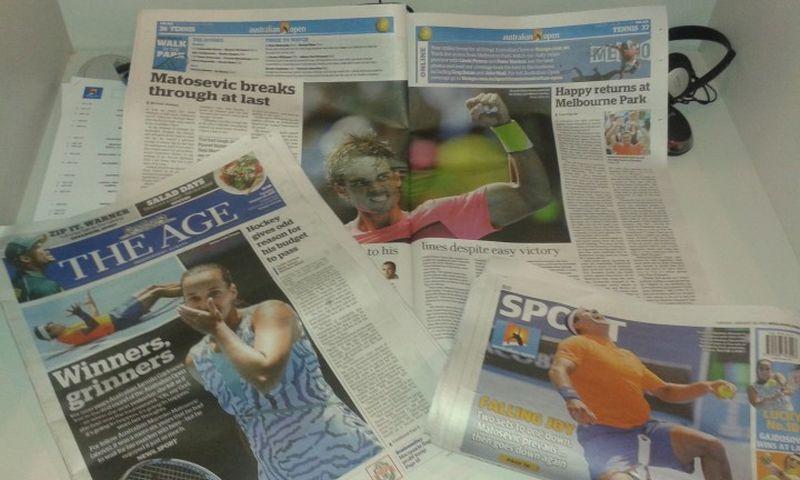 tennis giornali