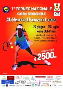 1° Torneo Nazionale Open Femminile, Tennis Club Chiari - 2015