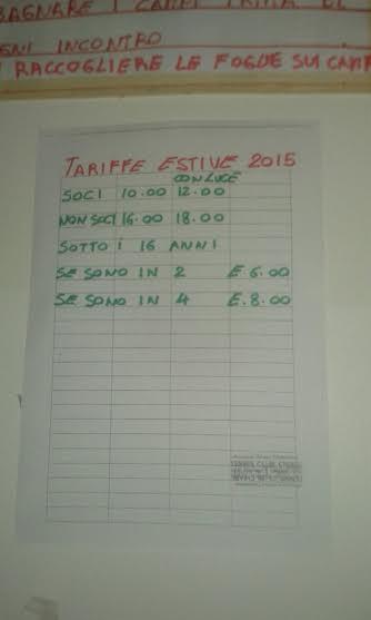 tariffe estive
